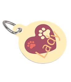 Round printed pet tag