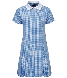 Long Whatton Corded Gingham Dress