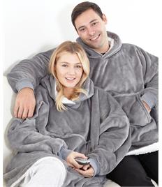 Oversized cosy sherpa hoodie